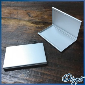 Alluminum Business Card Holder Card Case Double Type Plain Plain