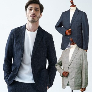 Topic Suits Button Stretch Jacket
