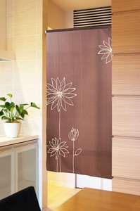 Japanese Noren Curtain Line Flower Long