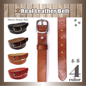 Genuine Leather Leather Belt Unisex Oval Buckle Cow Leather Length S/S