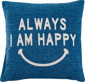 Neil Weaving Cotton Cushion Cover Happy