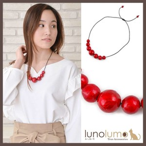 Red Ball Wood Necklace