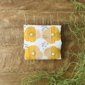 7 Pcs Matching Fabric Kitchen Towels Flower Yellow Made in Japan Western Plates
