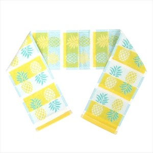 Life Pineapple Pattern Jacquard Slim Long Towel