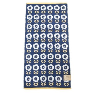 Daily Necessity Pansy Pattern Jacquard Big Towel