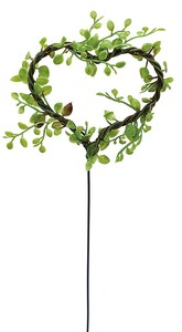 Heart Leaf Pick Artificial Flower