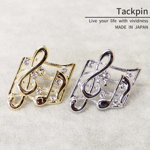 pin Brooch Tuck pin Musical Note