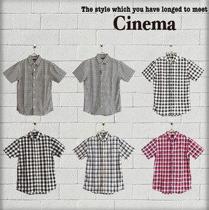 For Summer Blow Checkered Short Sleeve Shirt