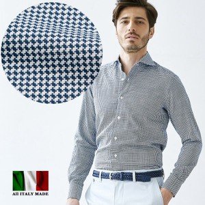 Jacquard Weaving Komon Long Sleeve Shirt