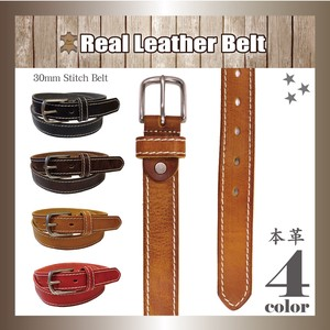 Genuine Leather Leather Belt Unisex Buckle Cow Leather Leather Length S/S