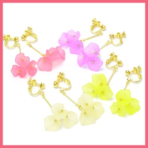 Flower Motif 3 Pcs Earring