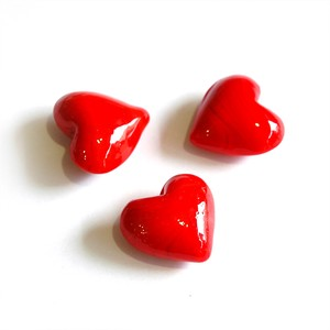 Glass Heart Red
