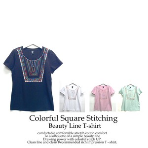 Colorful Square Line T-shirt