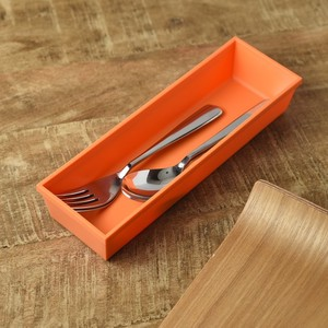 Cutlery Case Mat Orange China Western Plates & Utensils