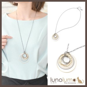 Black Gold Circle Pendant Necklace