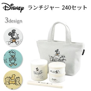 PEARL KINZOKU Disney Lunch Set Mickey Mouse Donald Duck Chip 'n Dale
