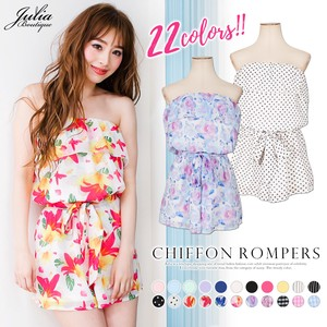 One-piece Dress 2 Colors Chiffon Frill Rompers All-in-one One-piece Dress