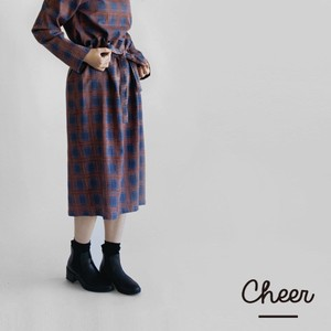 Cotton Checkered Skirt