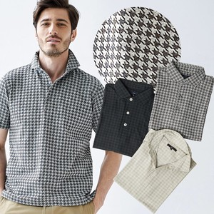 Houndstooth Pattern Jacquard Weaving Short Sleeve