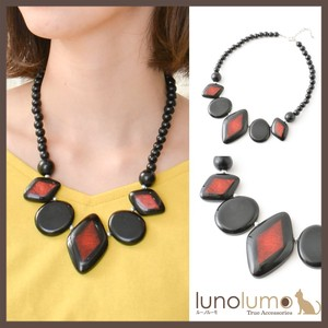 Black Red Wood Necklace