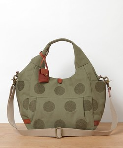 New Color Canvas Dot Embroidery Leather Tote