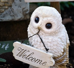Welcome Owl Ornament