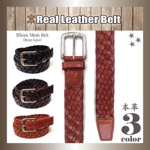 Genuine Leather Leather Belt Mesh Cow Leather Included Buckle Unisex