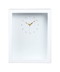 Plus Wooden Style Clock Rectangle