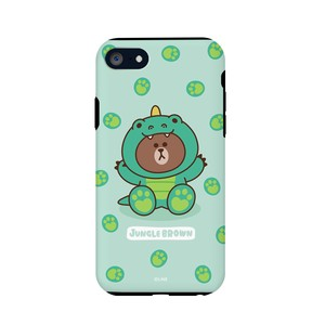 iPhone SE Case Line Friends Case Brown