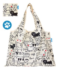 Shopping Bag Mono Tone Dog Folded Eco Bag