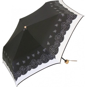 All Weather Umbrella Uv Countermeasure Rose Black Coat Objects and Ornaments Ornament