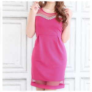 S/S Dress One-piece Dress Pearl Attached Switch Dress