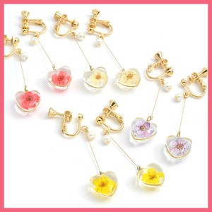 Dry Flower Heart Motif Earring