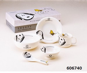 Snoopy Joy Series Kids Plates & Utensil Gift