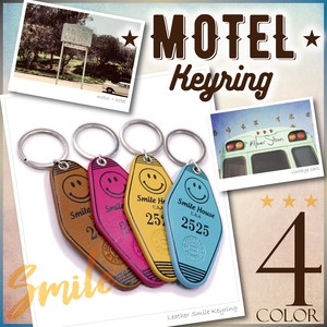 Key Ring Genuine Leather Leather Hotel Motel Cow Leather American
