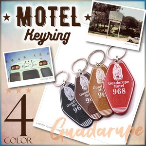 Key Ring Genuine Leather Loupe Maria Leather Cow Leather Hotel American