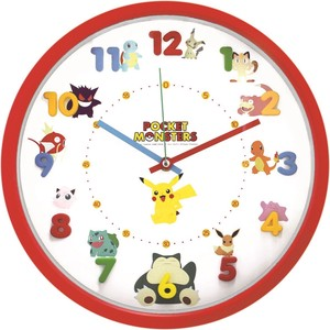 Pokemon Icon Wall Clock