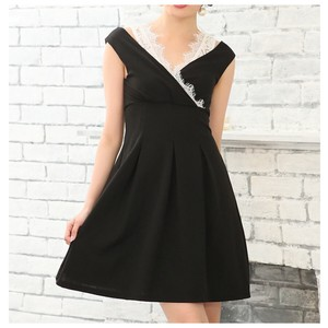 S/S Dress One-piece Dress Lace Band Dress