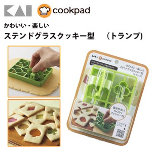 KAIJIRUSHI Pleasant Sten Glass Cookie Mold Playing Card