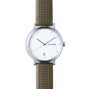 【POS+/北欧】[HYGGE]2203 - KHAKI LEATHER / WHITE DIAL 《腕時計》