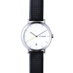 【POS+/北欧】[HYGGE]2203 - BLACK LEATHER / WHITE DIAL 《腕時計》