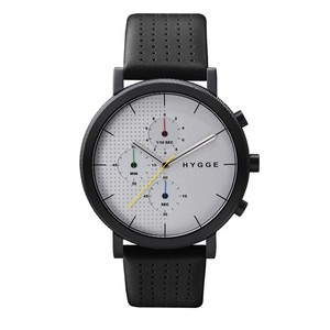 【POS+/北欧】[HYGGE]2204 - LEATHER / WHITE  DIAL BLACK CASE 《腕時計》