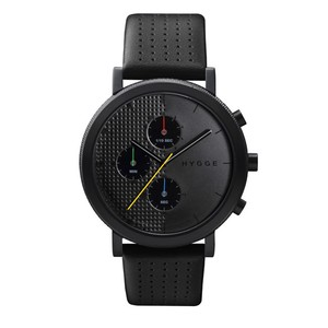 【POS+/北欧】[HYGGE]2204 - LEATHER / BLACK DIAL BLACK CASE 《腕時計》