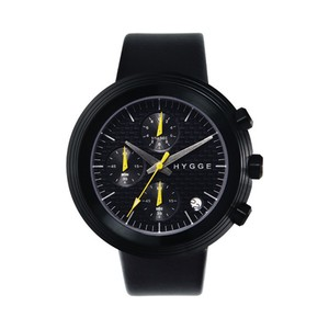 【POS+/北欧】[HYGGE]2312 - LEATHER / BLACK DIAL BLACK CASE 《腕時計》