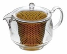 Clear Tea Pot Brown