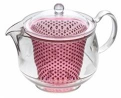 Clear Tea Pot Pink