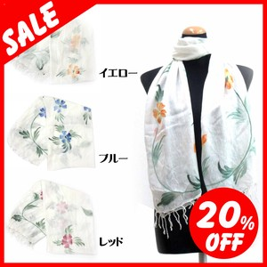 Spring Items Material Large Format S/S Stole Floral Pattern Print