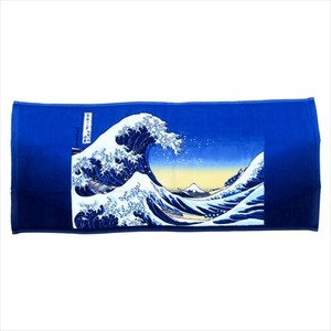 Art & Design Book One Side Gauze Long Towel Kanagawa