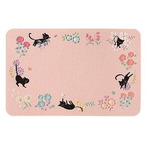 Name Card Cat Flower