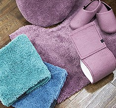 Toilet Fabric Series Bath Mat 4 Colors